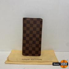 Louis Vuitton Portefeuille Brazza Damier Ebene N60017 Portemonnee in Dustbag in Zeer Nette Staat