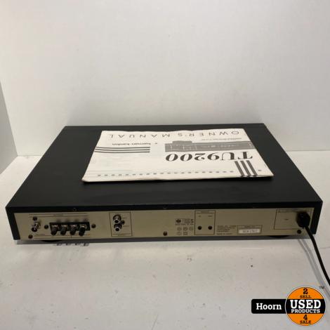 Harman Kardon TU9200 AM/FM Stereo Tuner incl. Handleiding