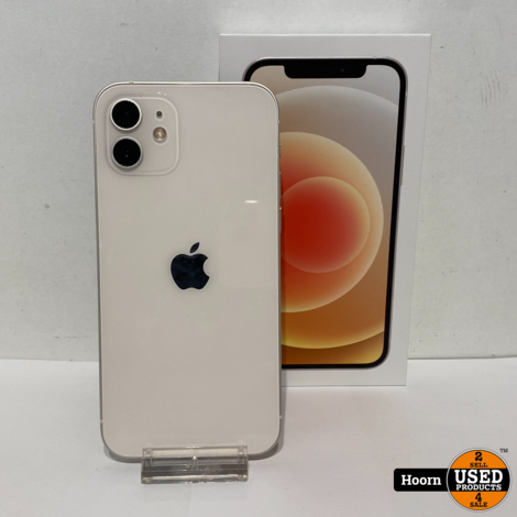 iPhone 12 64GB Wit Compleet in Doos incl. Lader Accu: 97%