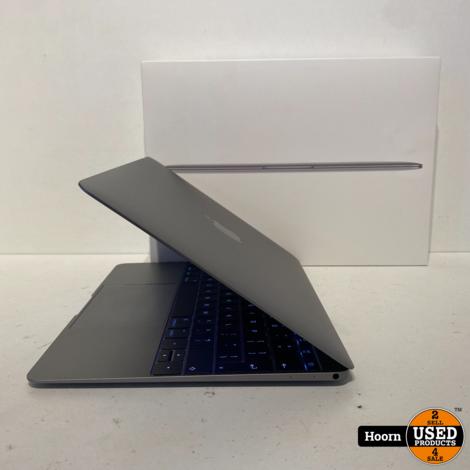 Apple Macbook 12-inch 2016 Space Gray in Doos in Zeer Nette Staat