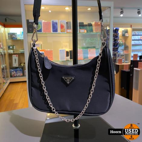 Prada Nylon Bag Black Dames Schoudertas In Zeer Nette Staat
