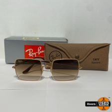 Ray-Ban Ray-Ban RB1971 Square 1971 Classic Zonnebril in Hoes Met Doos