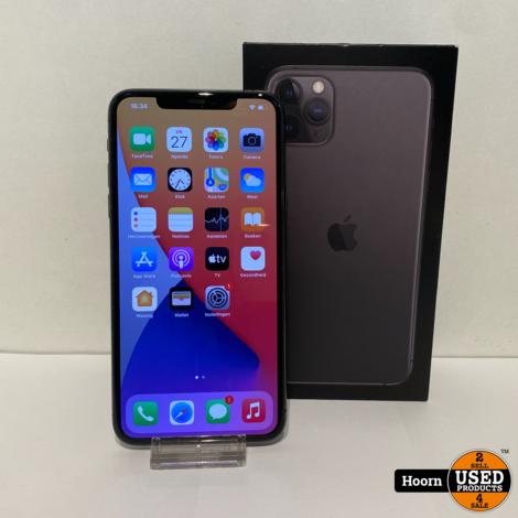 iPhone 11 Pro Max 64GB Space Gray in Doos incl. Lader in Zeer Nette Staat Accu: 91%
