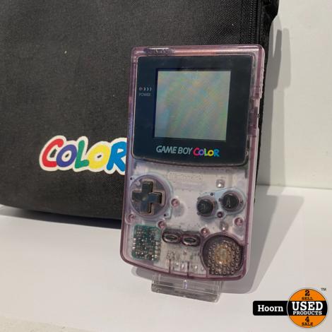 Nintendo Game Boy Color Compleet in Tas incl. Lader (Werkt alleen aan de lader)