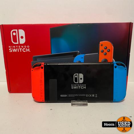 Nintendo Switch Gen2 Rood/Blauw Compleet in Doos in Nette Staat