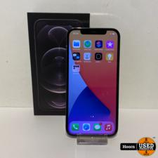 Apple iPhone Apple iPhone 12 Pro 128GB Graphite in Doos Accu: 89% In Nette Staat
