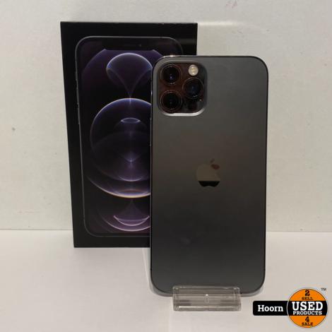 Apple iPhone 12 Pro 128GB Graphite in Doos Accu: 89% In Nette Staat