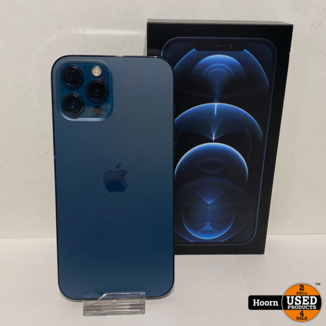 Apple iPhone 12 Pro Max 256GB Pacific Blue in Doos Accu: 99%
