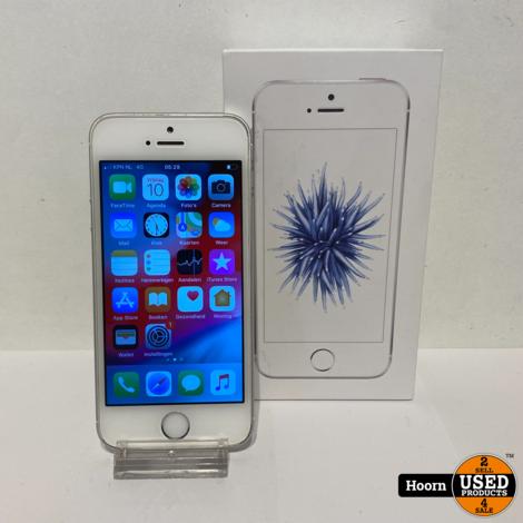 iPhone SE 16GB Silver in Doos incl. Lader Accu: 93%