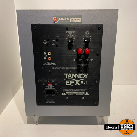 Tannoy EFX 5.1 Hi-Fi Speakerset Homecinema Silver