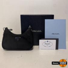 PRADA Prada Re-Edition Nylon MINI Shoulder Bag Zwart 1TT122 Compleet in Doos met Bon in Zeer Nette Staat