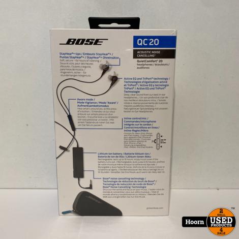 Bose QuietComfort 20 Zwart Nieuw in Seal