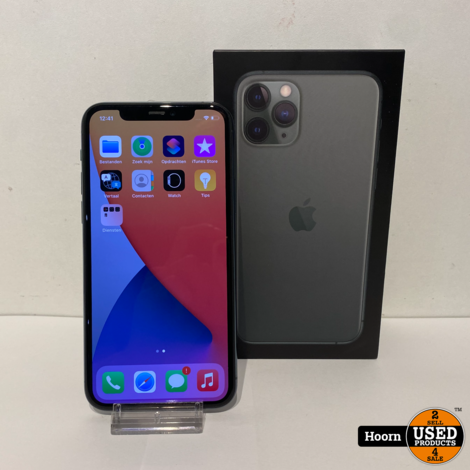 iPhone 11 Pro 64GB Midnight Green Compleet in Doos Accu: 84%