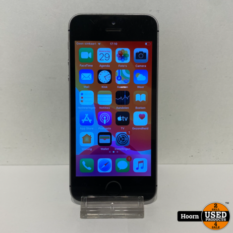 iPhone SE 16GB Space Gray Los Toestel incl. Lader Accu: 85%