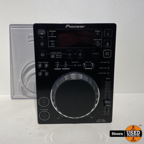 Pioneer CDJ-350 Tabletop CD/USB/MIDI speler incl. Stofkap in Zeer Nette Staat