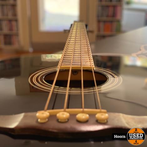 Jack & Danny ABG-1 BK Semi Akoestisch Bass Gitaar 4 Snaren incl. Tas