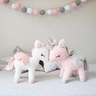 Unicorn roze met naam in glitter