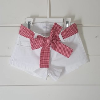 Balloon Chic Short wit/vichy rood