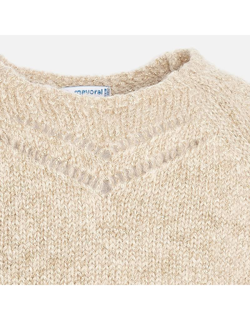 Mayoral Pull beige sparkly