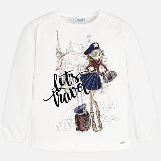 "Mayoral T-shirt ""Let's travel"" girl"