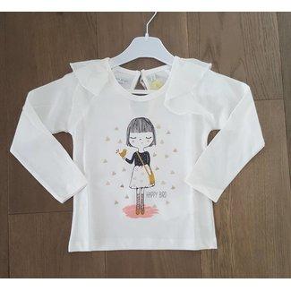 "Lemon Beret Tshirt ""Happy bird"" ecru"