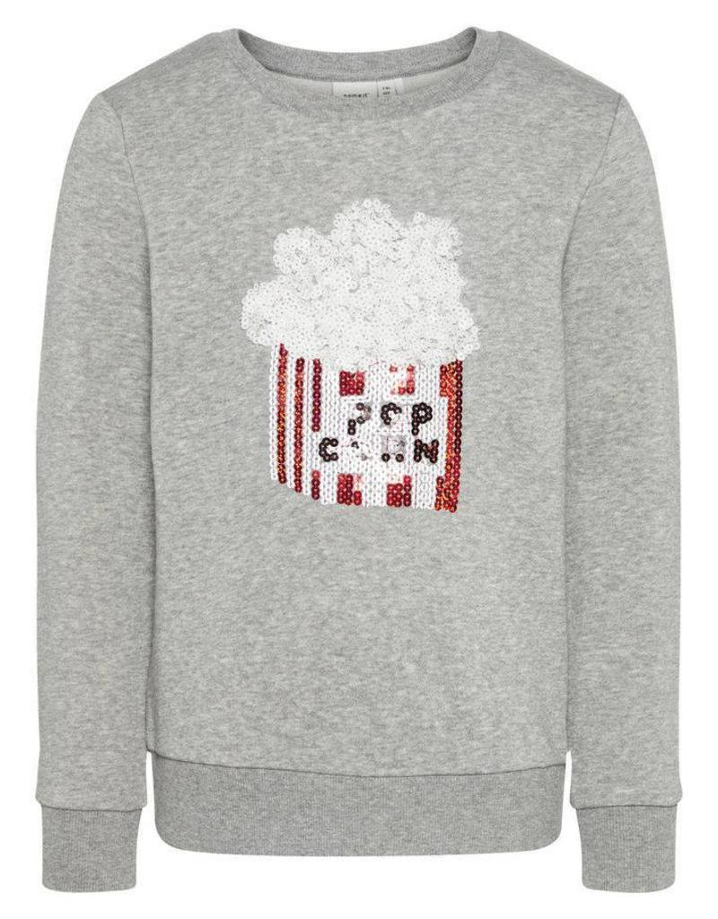 4cb0d0aad4be98 Name It Popcorn sweater grijs - Me & Mommy