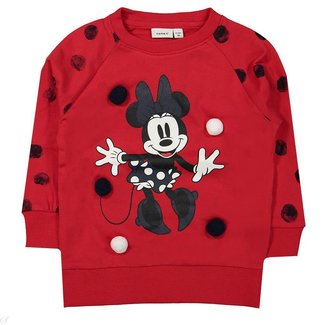 Name It Sweater Minnie Mousse rood