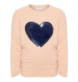 Name It Sweater paillet Heart roze