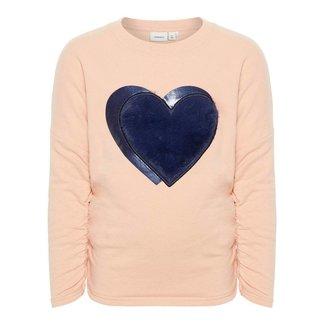 Name It Sweater paillet Heart roze