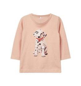 "Name It T-shirt ""Dog"" roze"