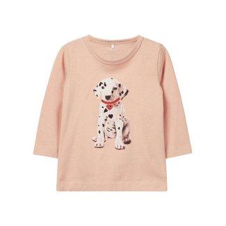 "Name It T-shirt ""Dog"" roze"