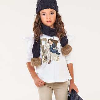 Mayoral T-shirt met print girl
