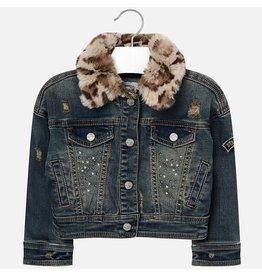 Mayoral Jeans jacket leopard