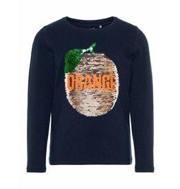 Name It Tshirt orange fruit dark sapph