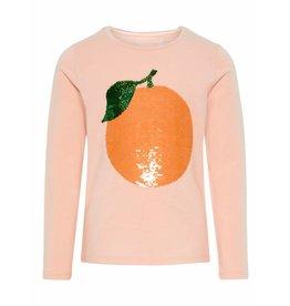 Name It Tshirt orange fruit strawb cream