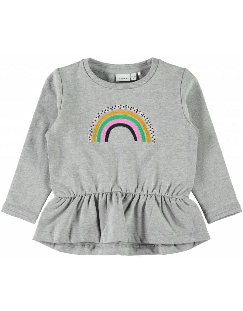 Name It LS sweater rainbow grey