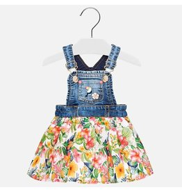 Mayoral Printed overall dress         Denim