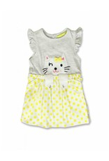 Lemon Beret Baby girls jurk light grey