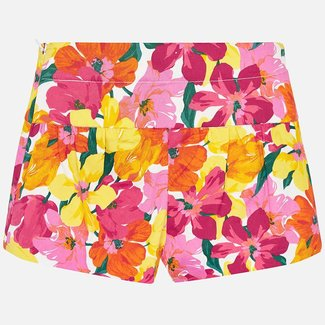 Mayoral Flower printed shorts         Coral