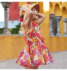 Mayoral Printed dress                 Coral