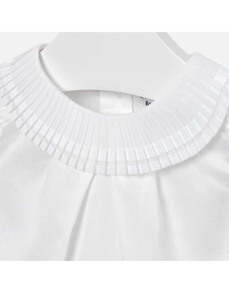 Mayoral Blouse with pleated neckline  White