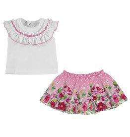 Mayoral Skirt and shirt set           Chewingum