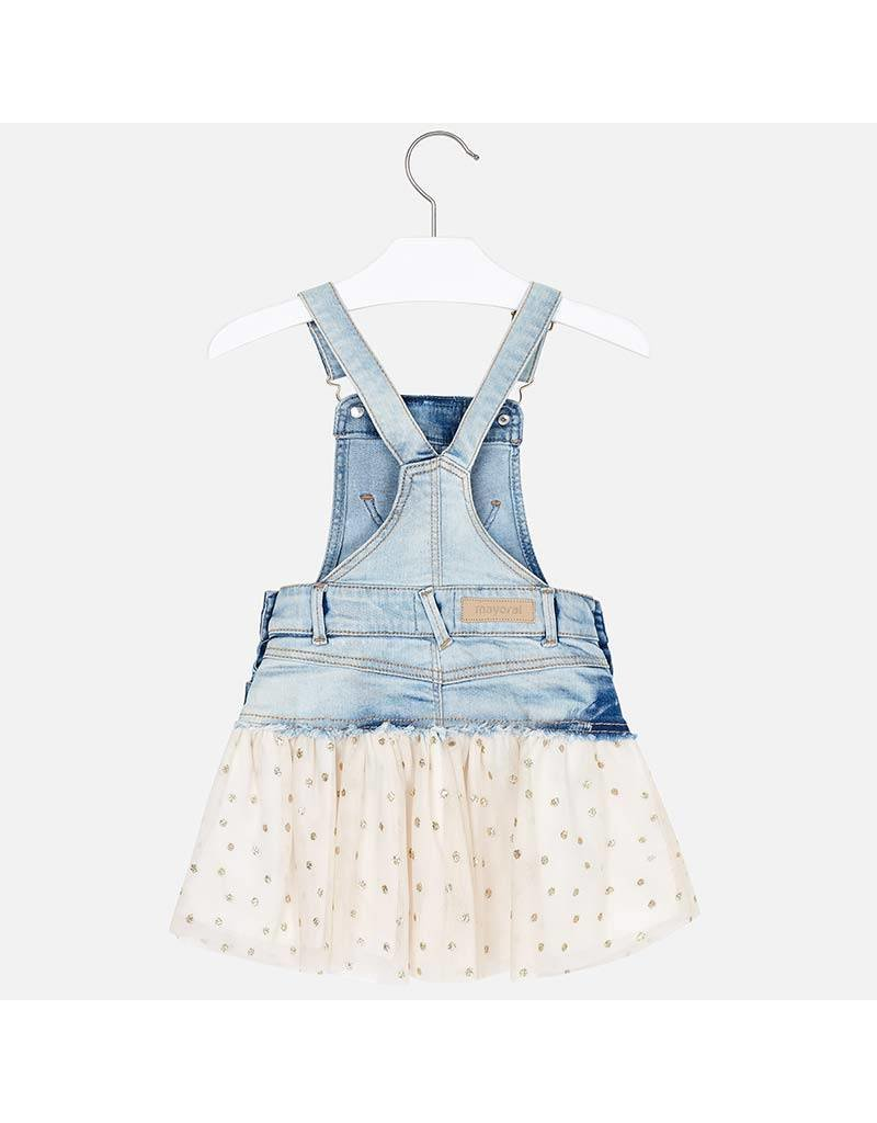 Mayoral Tuule overall dress           Golden