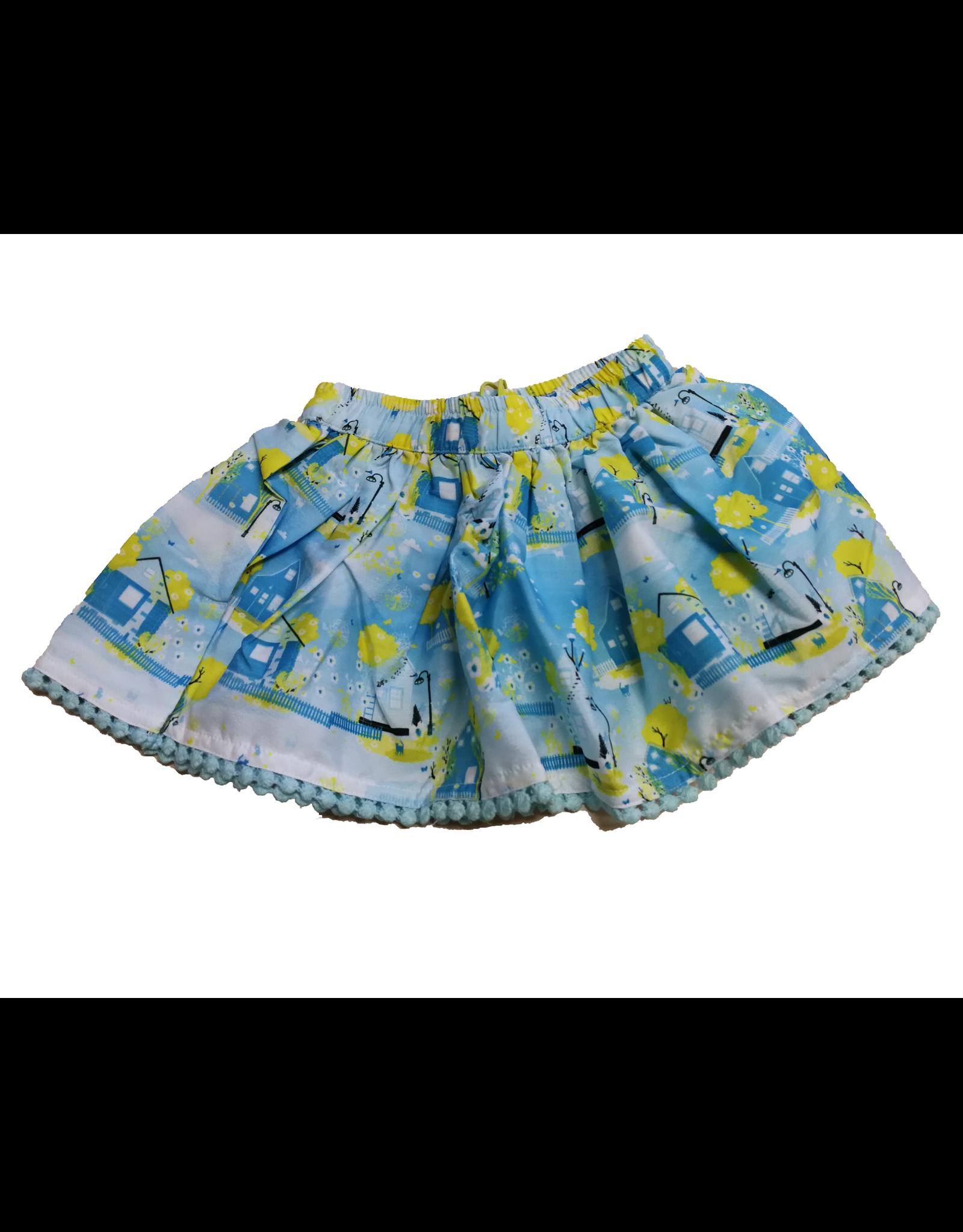 Lemon Beret Baby girl rok Cool blue