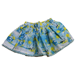 Lemon Beret Baby girl rok Cool blue