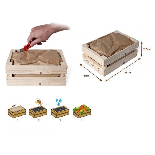 Minituintje in een kistje
