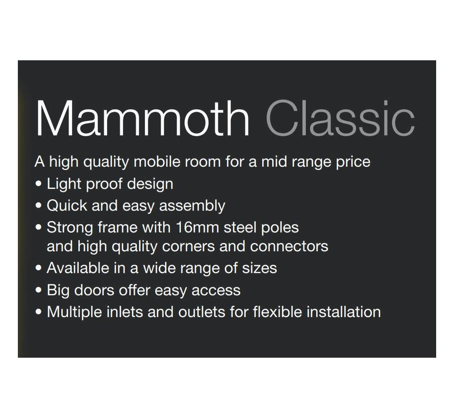 Mammoth Classic 240+ Kweektent 240x240x200 cm