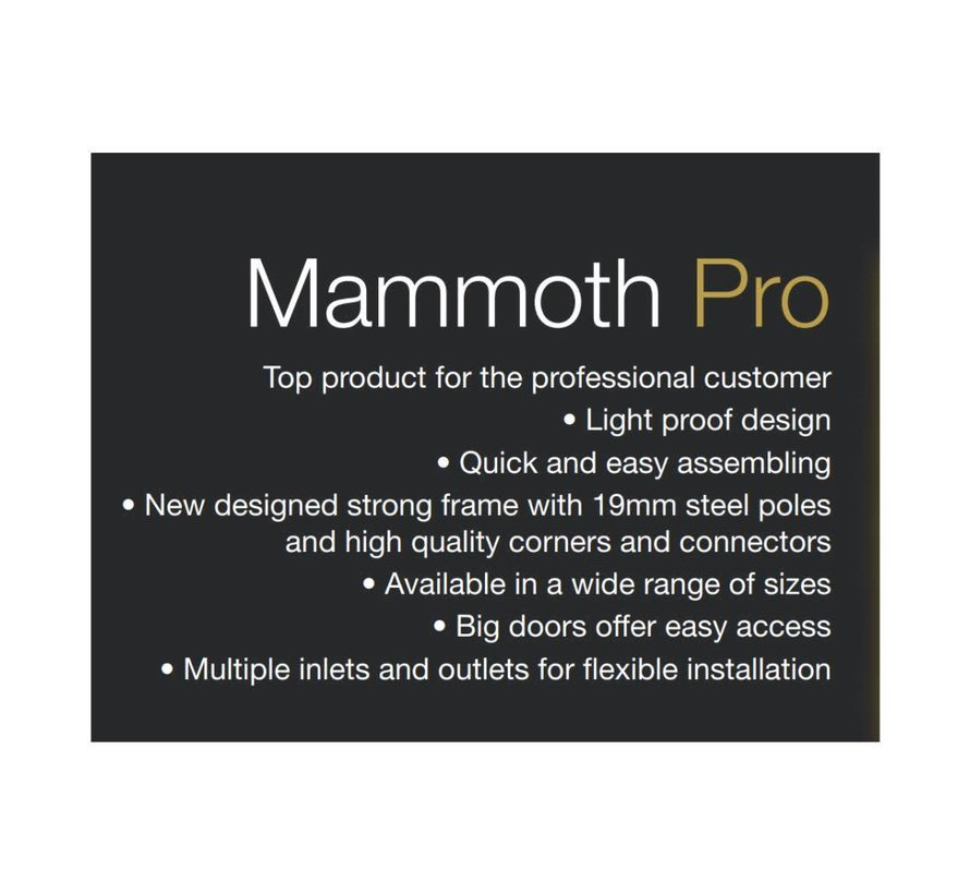Mammoth Pro 90+ Kweektent 90x90x180 cm
