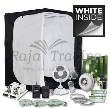 Mammoth Ivory 150 Grow Tent Compleet 2x 400 Watt 150x150x200
