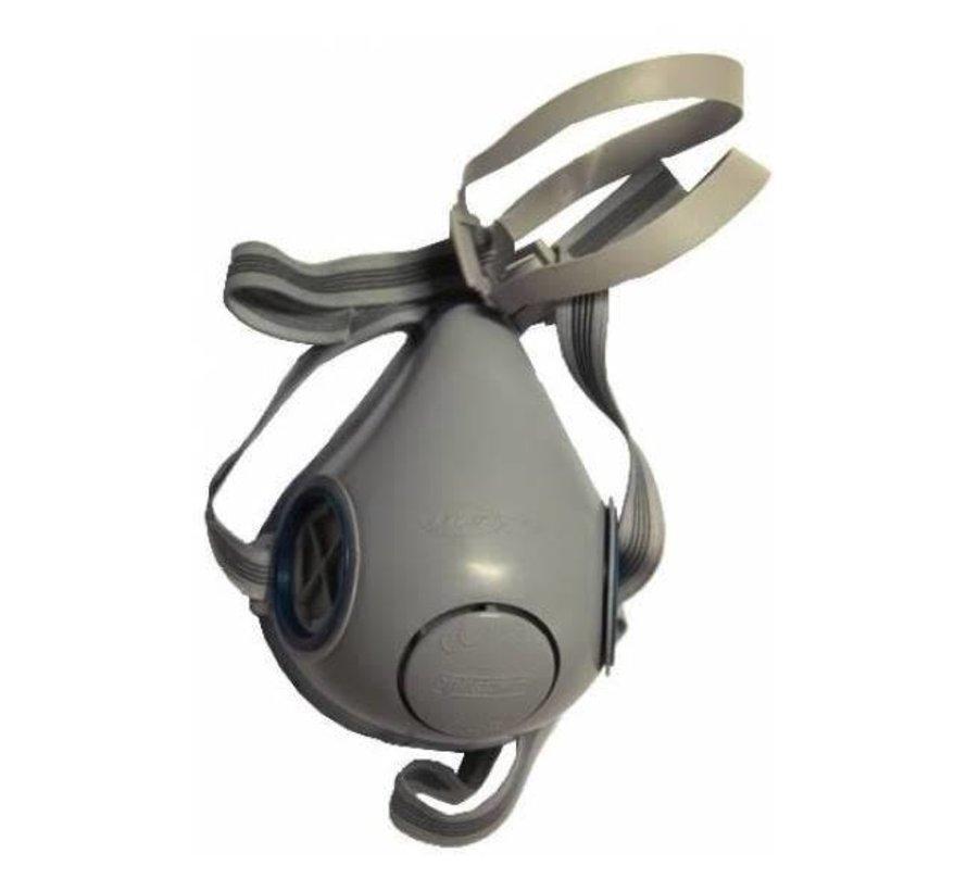Halfmasker met dubbele filterhouder (excl filters)
